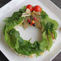 Christmas Potato Salad Wreath