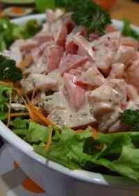 Chicken Breast Salad with Tomato Mayonnaise Sauce