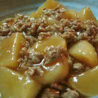Creamy Turnip and Minced Meat in An Sauce