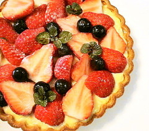 Strawberry Tart: Brimming with Custard Cream