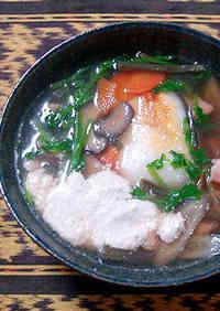 Chicken and Burdock Root Zouni  (Rich with Walnut Sauce)