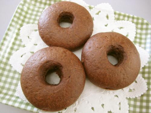 Simple Baked Doughnuts Made with Pancake Mix, Tofu & Chocolate Bar