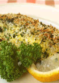 White Fish Baked in Mayonnaise and Panko