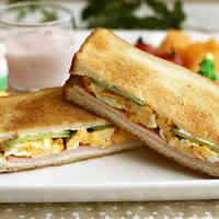 Ham, Egg & Cucumber Sandwich
