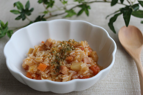 Easy Risotto with Leftover Minestrone