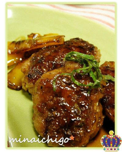Minced Pork Sweet and Salty Teriyaki Tsukune Patties