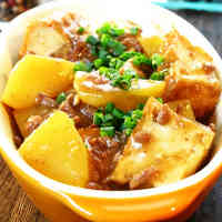 Atsuage, Potato, & Ground Pork Simmered in Miso