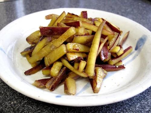 Sweet Potato Kinpira Stir Fry