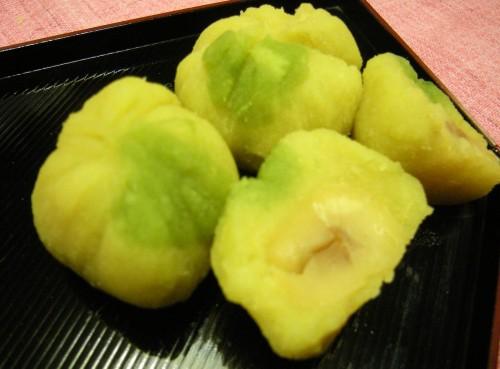 'Kinton' Sweet Potatoes and Chestnut Paste