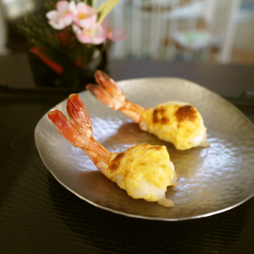 Baked Golden Mayonnaise and Shrimp for New Years