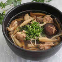 Mushrooms and Chicken Soba Noodles