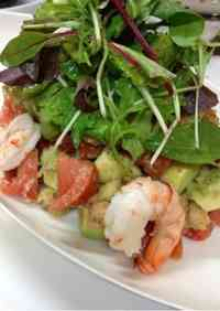 Avocado, Shrimp and Tomato Panzanella