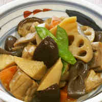 Chikuzen-ni (Stewed Chicken with Root Vegetables)