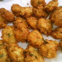 Western-Style Firm Tofu and Tuna Ganmodoki -- Fried Tofu Fritters