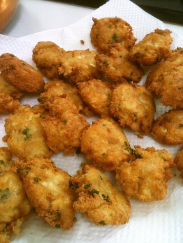 Western-Style Firm Tofu and Tuna Ganmodoki -- Fried Tofu Fritters