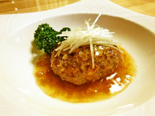 Chinese Cabbage Hamburger Steaks in Thick Japanese Ume Plum Sauce