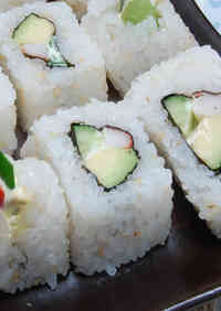 Inside-Out Uramaki California Rolls