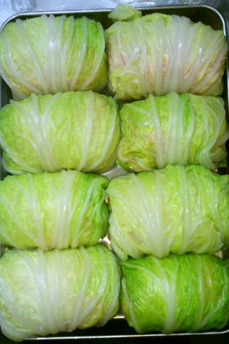 Healthy Chinese Cabbage Rolls with Tofu
