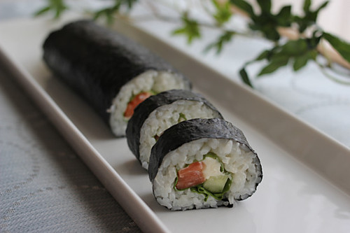 Good for Setsubun Salmon and Cream Cheese Nori-maki Sushi