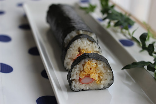 Egg and Crab Stick Nori-maki Sushi