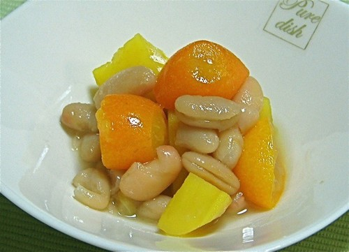 Sweetly-Simmered Kumquat, White Beans, and Sweet Potato