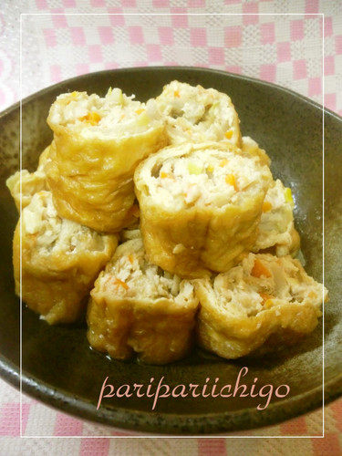 Minced Chicken Wrapped with Fried Tofu