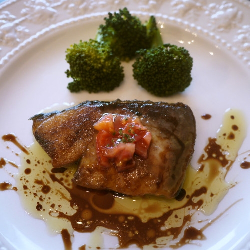 Sautéed Amberjack with Balsamic Vinegar