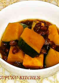 """Itoko-ni"" Kabocha Squash Simmered with Canned Adzuki Beans"