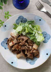Stewed Pork and King Oyster Mushrooms with Balsamic Vinegar