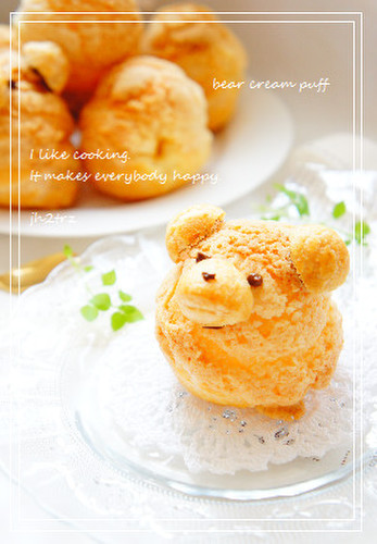 Crispy Bear Cream Puffs