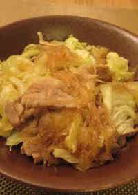 Healthy Pork Stir-fry with Plenty of Cabbage & Glass Noodles