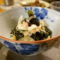 Wakame Seaweed, Onion and Tuna Salad with Mayonnaise