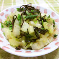 Stir-Fried Celery with Bonito Flakes and Shio-Kombu