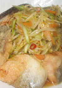 Grilled Salmon and Vegetables in Nanban Sauce