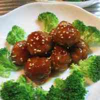 Meatballs in Sweet & Sour Ankake Sauce