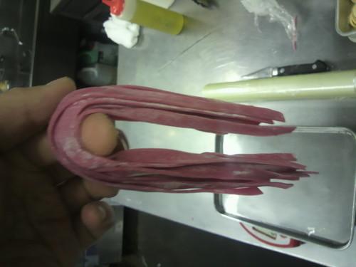 Deep Red Fresh Fettuccine
