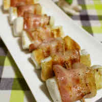 Delicious Hanpen Wrapped in Bacon