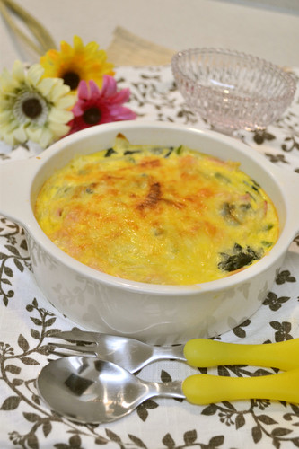 Easy Quiche with Spinach and Bacon