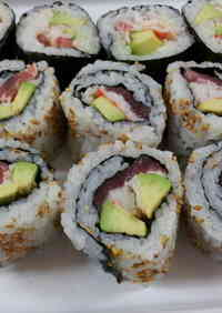 California Roll with Raw Tuna