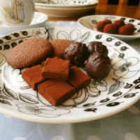 Dense Earl Grey Flavored Chocolate Truffles