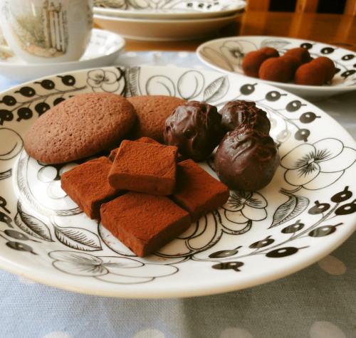 Dense Earl Grey Flavored Chocolate Truffles