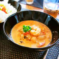 Addictive Tomato Cream Stew with Shrimp