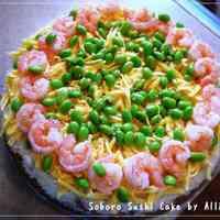 Soboro Sushi Cake
