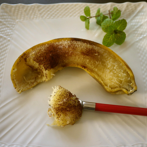 Microwaved Hot Banana (Great for Colds)