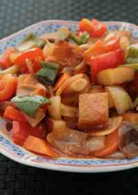 Black Vinegar Sweet N' Sour Stir-fry with Satsuma-Age