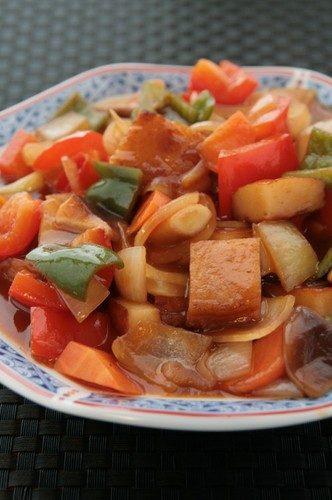 Black Vinegar Sweet N' Sour Stir-fry with Satsuma-Age
