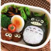 Easy and Cute Character Bento: Nori Totoro
