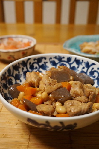 My Mom's Simmered Chicken and Konnyaku