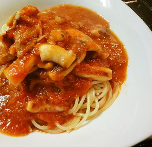 Calamari in Tomato Sauce Pasta
