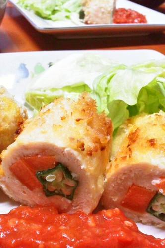 Healthy Okra & Carrot Fried Chicken Tender Cutlets